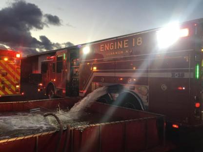 Engine 18 making a drop in Hillsborough